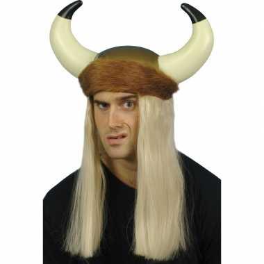 Vikinghelm met blond haar