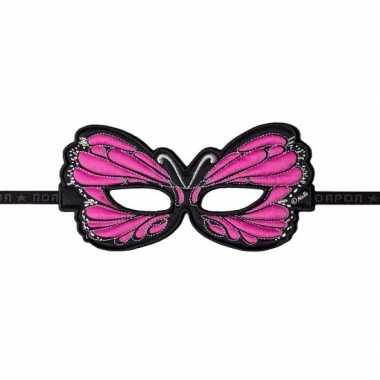 Vlinder oogmasker roze