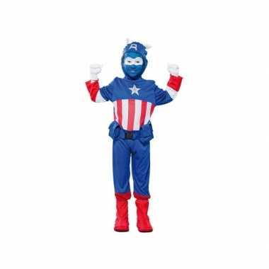 Voordelig superheld kapitein carnavalskleding voor jongens