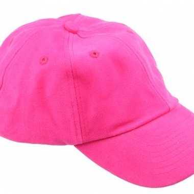 Voordelige baseballcaps fuchsia roze