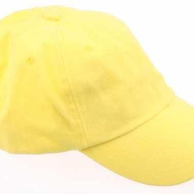 Voordelige baseballcaps geel
