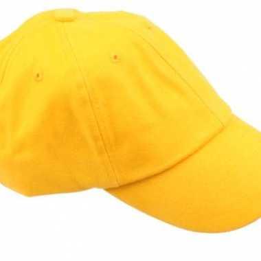 Voordelige baseballcaps goudgeel