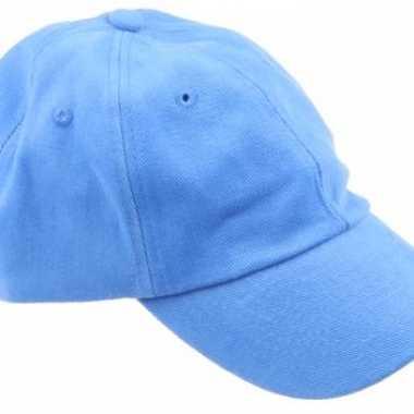 Voordelige baseballcaps lichtblauw
