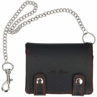 Voordelige portemonnees zwart 12,4 cm