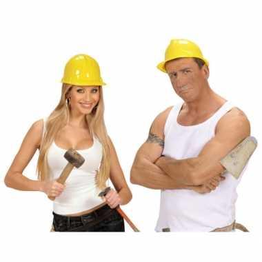 Werkhelmen geel volwassenen