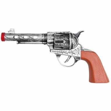 Western revolver/pistool zilver 22 cm