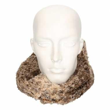 Winter zachte sjaals bruin/luipaard voor volwassenen