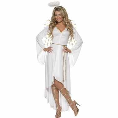 Wit engelen carnavalskleding voor dames