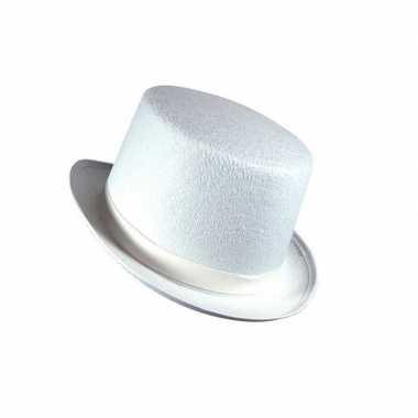 Witte hoed hoog model