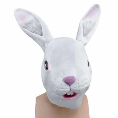 Witte konijnen dierenmaskers