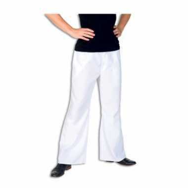 Witte verkleed broek voor heren