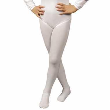 Witte verkleed panty/maillot voor meisjes/kinderen