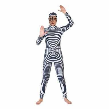 Zebra catsuit/carnavalskleding voor volwassenen