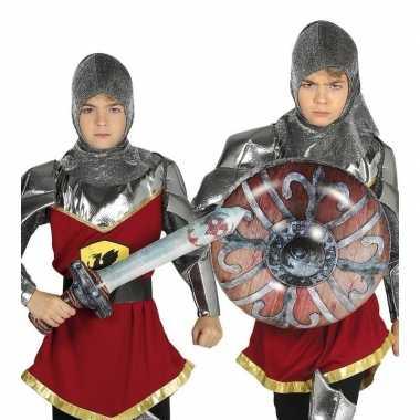 Zilveren ridder set opblaasbaar