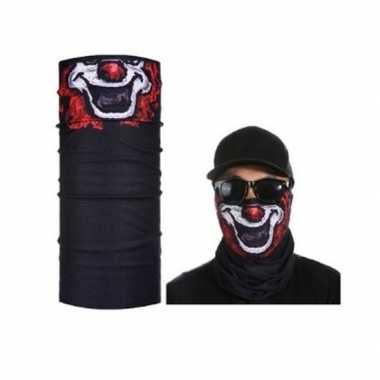 Zwart clown biker masker voor volwassennen