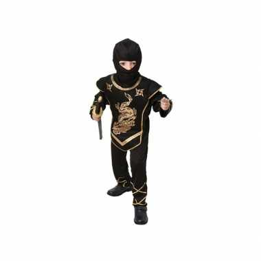 Zwart ninja verkleedcarnavalskleding