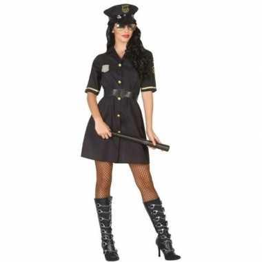 Zwart politie verkleed jurkje voor dames