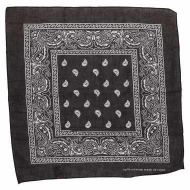 Zwarte bandana zakdoek 55 x 55 cm