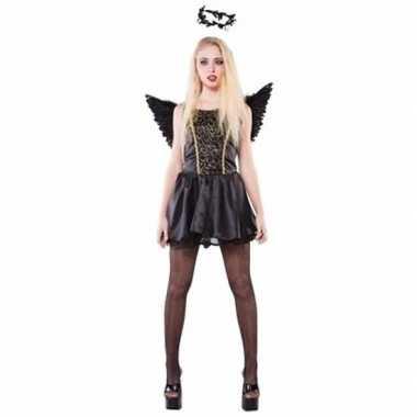 Zwarte engel dames carnavalskleding