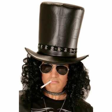 Zwarte hoge verkleed hoed