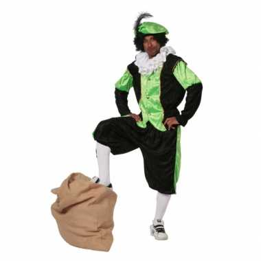 Zwarte Piet carnavalskleding groen grote maat
