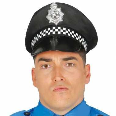 Zwarte politiepet voor volwassenen