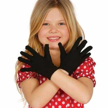 Zwarte verkleed handschoenen voor kinderen