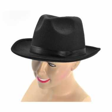 Zwarte vilten hoeden