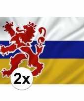 2x provincie limburg vlaggen 1 x 1 5 meter