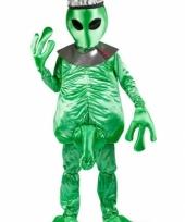 Alien carnavalskleding groen heren