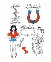 Amy winehouse tattoos 6 stuks