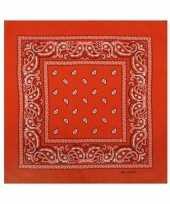 Bandana oranje paisley voor volwassenen