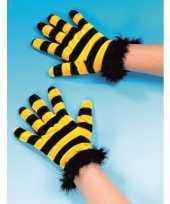 Bijen verkleed thema handschoenen