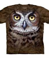 Bruin vogel t-shirt uil