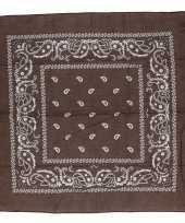 Bruine bandana zakdoek 55 x 55 cm