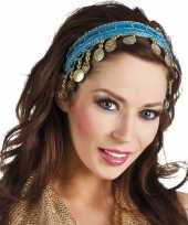 Buikdanseres hoofdband diadeem turquoise blauw dames verkleedacc