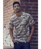 Camouflage t-shirt voor heren