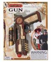 Carnaval accessoires steampunk revolver 25 cm