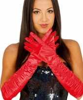 Carnaval satijnen rode gala handschoenen