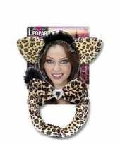 Carnaval verkleedset luipaardje voor volwassenen