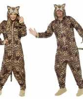 Carnavalskleding luipaard all in one voor volwassenen