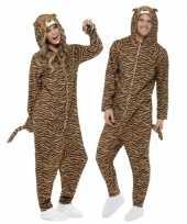Carnavalskleding tijger all in one voor volwassenen