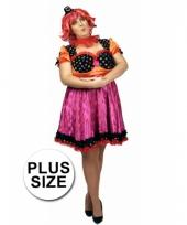 Clown carnavalscarnavalskleding voor dames in een grote maat