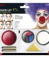 Clown schmink set inclusief clownsneus