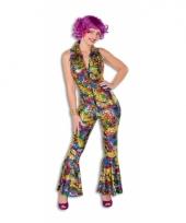 Dames carnavalskleding disco catsuit