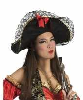 Dames piratenhoed met strik