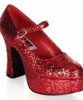 Damesschoenen glitter rood