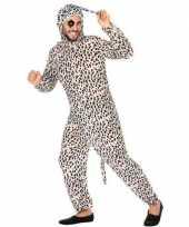 Dierenpak verkleed carnavalskleding dalmatier hond voor volwassenen