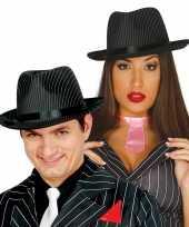 Gangster hoed zwart wit voor dames heren 10099465