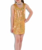 Gouden glamour jurk voor meisjes